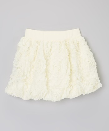Ivory Rosette Skirt - Toddler & Girls