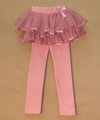 Pink Ruffle Tutu Leggings - Toddler & Girls