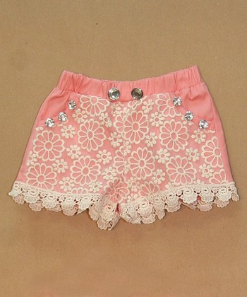 Pink Lace Shorts - Infant, Toddler & Girls