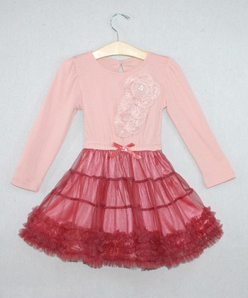 Pink Flower Tutu Dress - Toddler & Girls