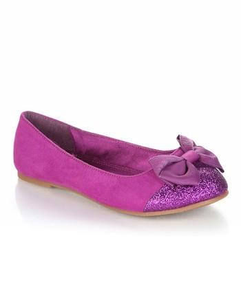 Purple Sparkle Bow Biro Flat