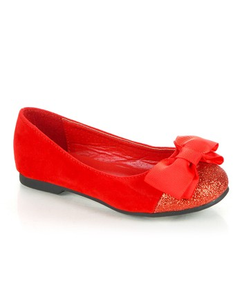 Red Sparkle Bow Biro Flat