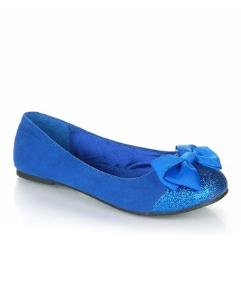 Royal Blue Sparkle Bow Biro Flat