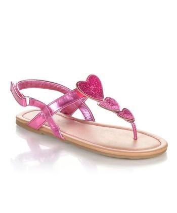 Fuchsia Sparkle Heart Yobu Sandal