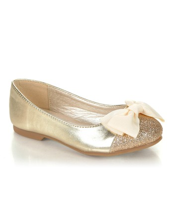 Gold Sparkle Bow Miro Flat