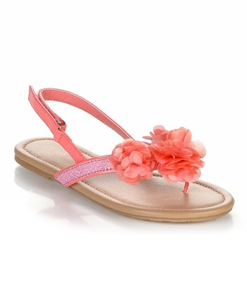 Coral Flower Poma Sandal