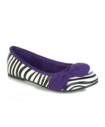 Purple Zebra Caso Flat