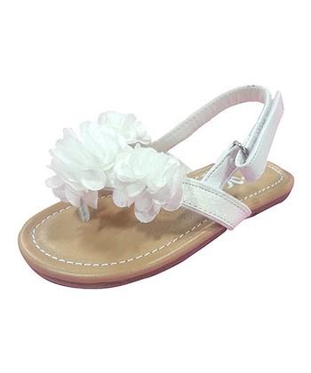 White Flower Goma Sandal