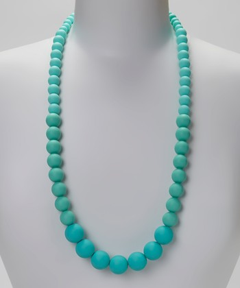 Mint Green Ombré Graduated Bead Teething Necklace