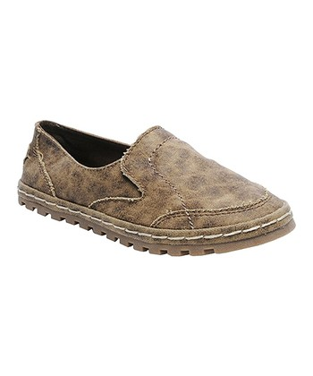 Brown Aviator Canvas Slip-On Shoe