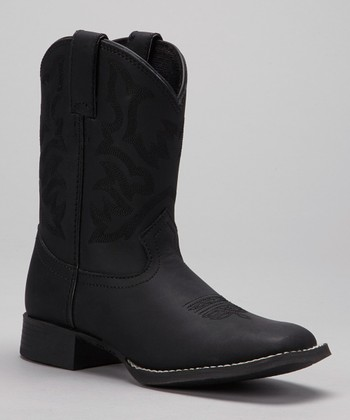 Black Stitched Cowboy Boot