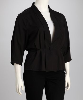 C.O.C. Black Plus-Size Blazer