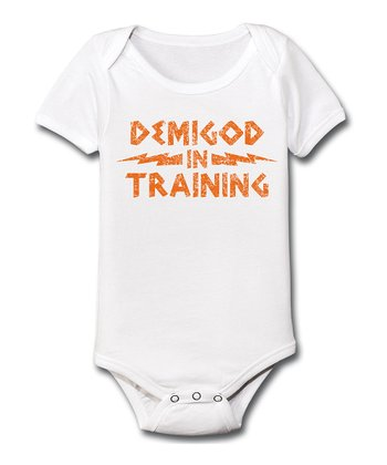 White 'Demigod in Training' Bodysuit - Infant