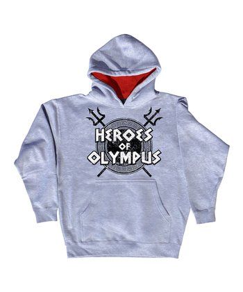 Gray 'Heroes of Olympus' Hoodie - Toddler & Kids