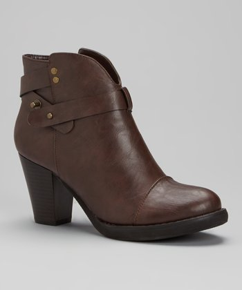 Brown Strappy Ankle Boot