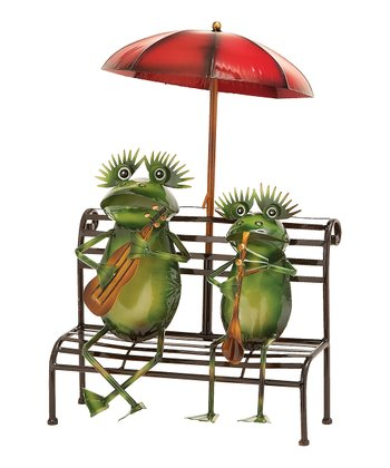 Musical Frog Garden Sculpture