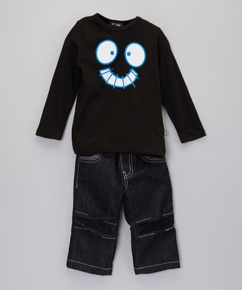 Black Bio Top & Pants - Toddler & Boys