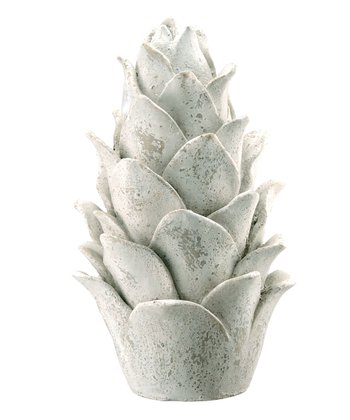 Antique White Pinecone Finial