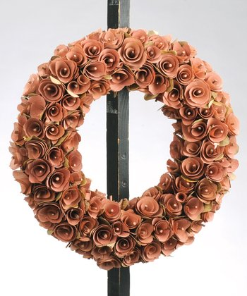 Peach Birch Rosette Large Wreath
