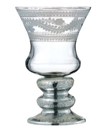 Antique Silver Small Hurricane Candleholder