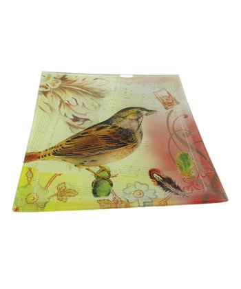 Pink & Yellow Small Bird Plate