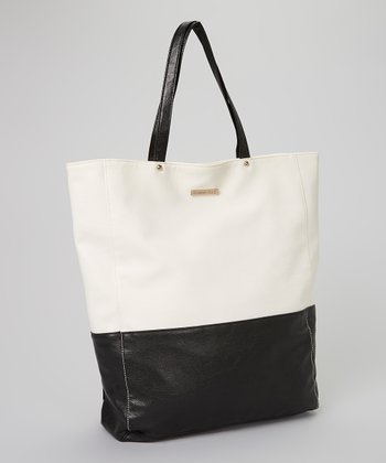 Black & White Color Block Tote