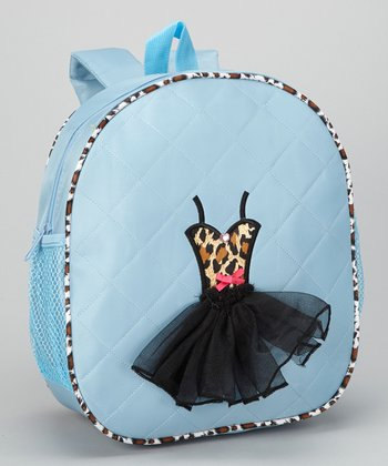 Blue Zebra Tutu Backpack