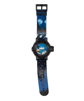 Blue & Black Batman Landscape LCD Watch