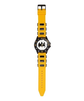 Black & Yellow Batman Symbol Analog Watch
