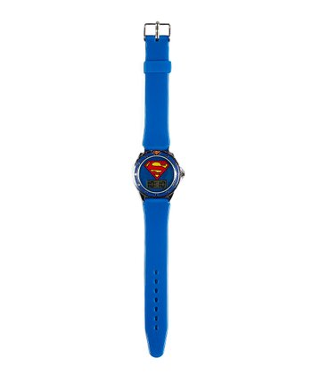 Blue Superman Digital Watch