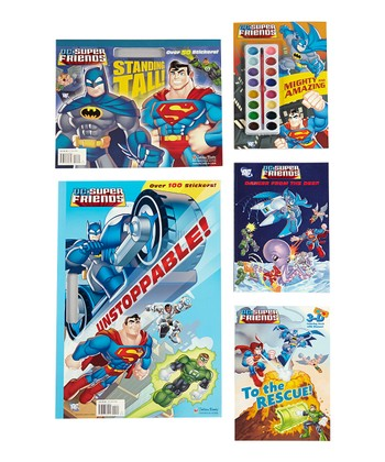 Superhero Coloring Paperback Set