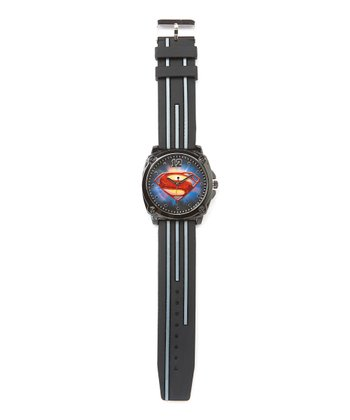 Man of Steel Emblem Black Analog Watch