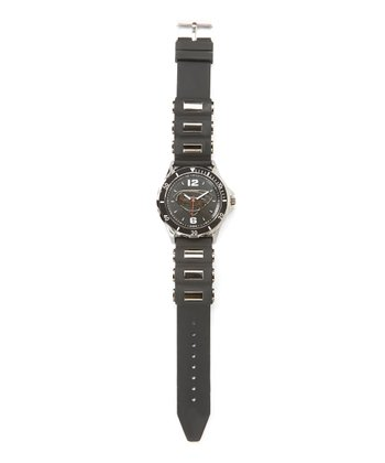 Superman Emblem Black Analog Watch