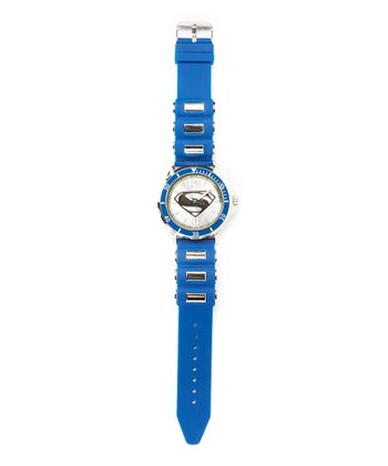 Superman Emblem Blue Analog Watch