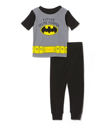 Black Batman Pajama Set - Toddler