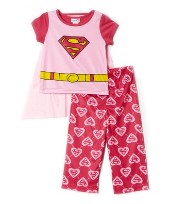 Pink Supergirl Pajama Set - Infant