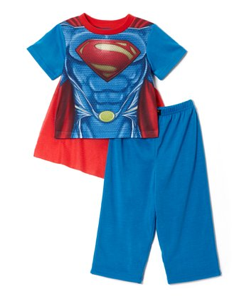 Blue & Red Superman Pajama Set - Toddler & Boys