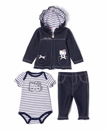 Denim Stripe Hello Kitty Pants Set - Infant