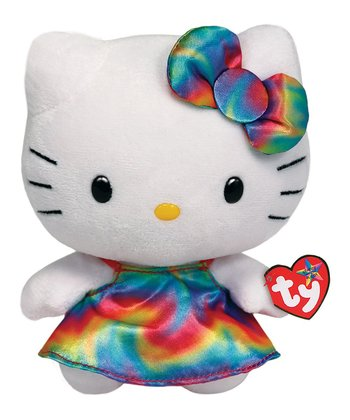 Rainbow Tie-Dye Hello Kitty Plush Toy