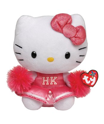 Pink Hello Kitty Cheerleader Plush Toy