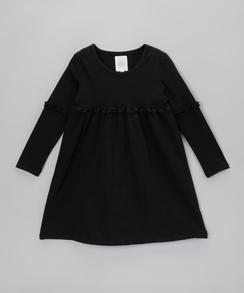 Black Empire-Waist Dress - Toddler & Girls
