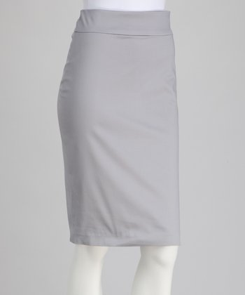 Light Gray Pencil Skirt