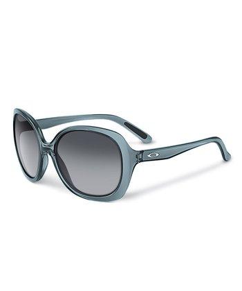 Crystal Black & Gray Gradient Backhand Sunglasses - Women