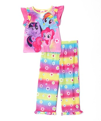Pink Rainbow My Little Pony Pajama Set - Toddler & Girls