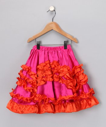 Raspberry & Orange Skirt - Toddler & Girls