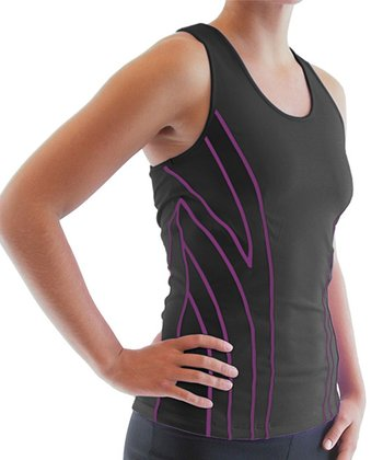 Black Hypnotic Racerback Tank - Women & Plus