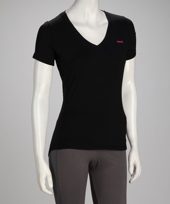 Black Fit Short-Sleeve Tee - Women & Plus