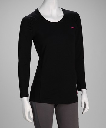 Black Fit Long-Sleeve Tee - Women & Plus