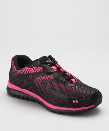 Black & Pink Equation LO Running Shoe - Women