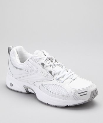 White & Silver Sport Walker 4010 LO Walking Shoe - Women